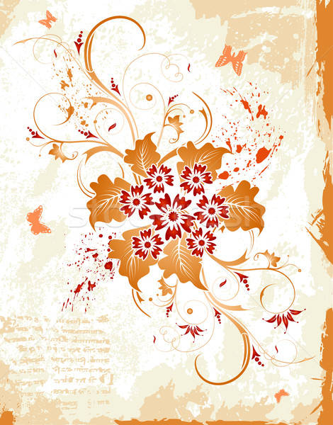 Abstract floral frame Stock photo © -TAlex-