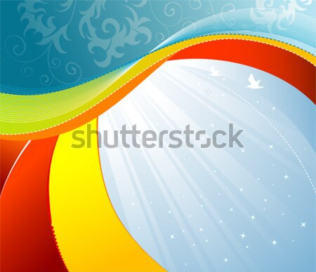 Onda windsurf elemento projeto abstrato fundo Foto stock © -TAlex-