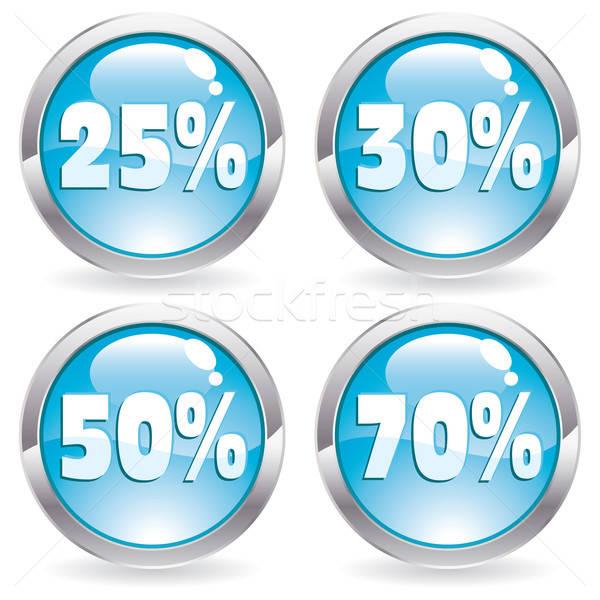 Stock fotó: Szett · vásár · gomb · gombok · százalék · internet