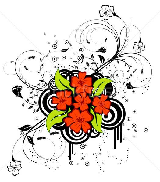 抽象的な フローラル 混沌 サークル デザイン ストックフォト © -TAlex-