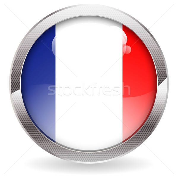 Gloss Button with French Flag Stock photo © -TAlex-