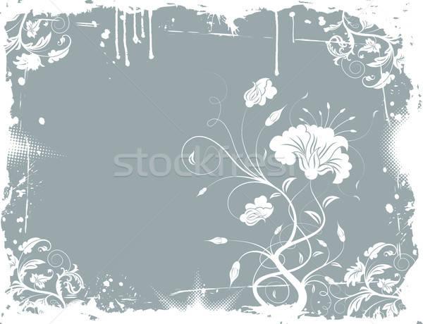 Grunge kwiatowy chaos farby projektu Zdjęcia stock © -TAlex-