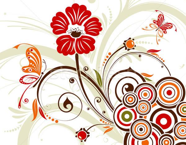 Foto d'archivio: Floreale · fiore · cerchio · elemento · design · texture