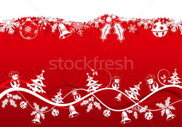 Karácsony karácsonyfa hóember alkotóelem terv textúra Stock fotó © -TAlex-