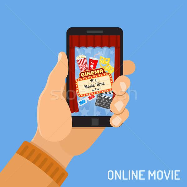 Stock photo: online movie concept