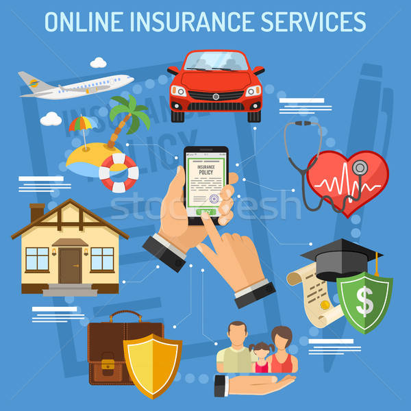 Online Insurance Services Stock photo © -TAlex-