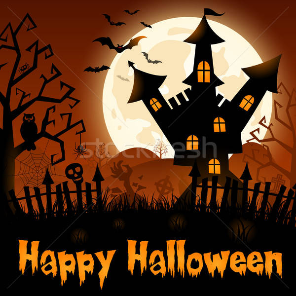 Halloween Poster Stock photo © -TAlex-