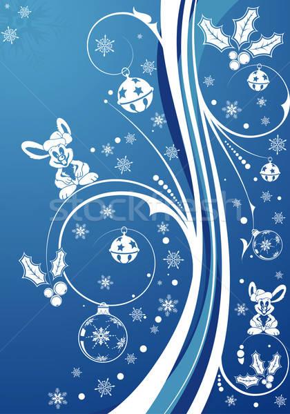 Christmas rabbit Stock photo © -TAlex-