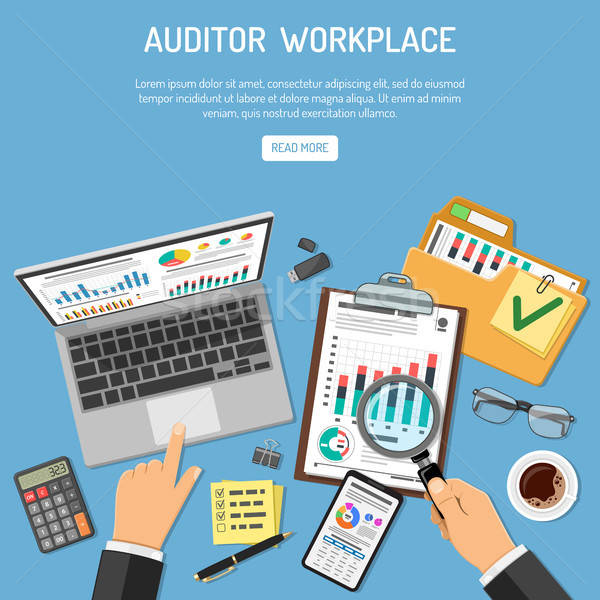 Auditor Workplace Concept Stock photo © -TAlex-