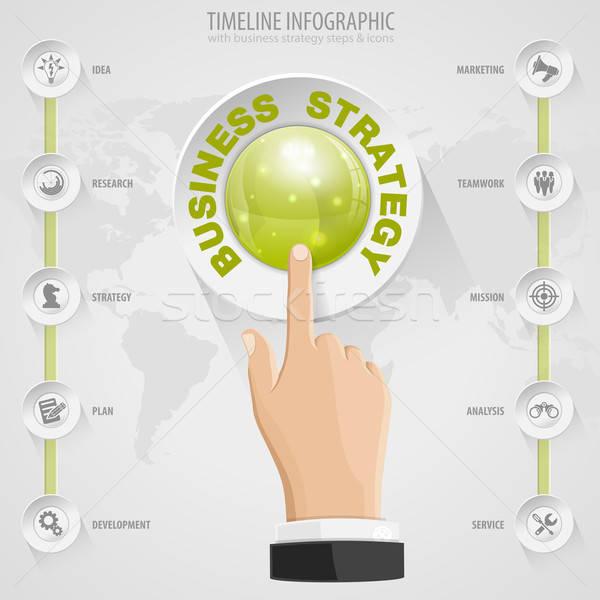İş stratejisi düğmeler simgeler el vektör şablon Stok fotoğraf © -TAlex-