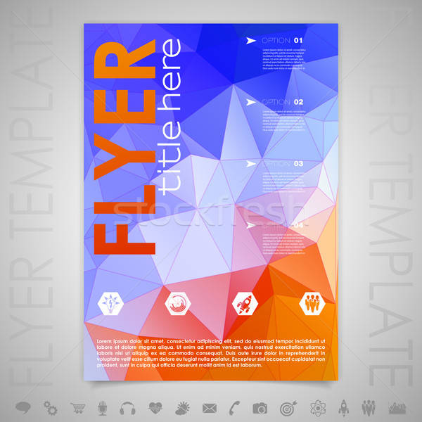 Flyer Design Template Stock photo © -TAlex-