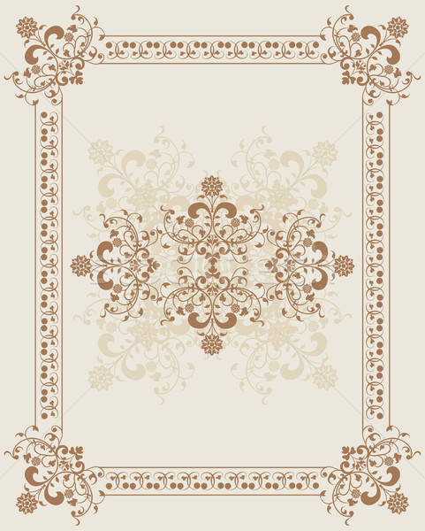Element ontwerp bloem frame vector kunst Stockfoto © -TAlex-