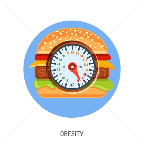 Obésité embonpoint régime alimentaire mobiles applications site web Photo stock © -TAlex-