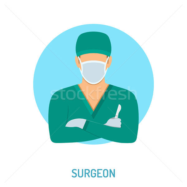 Médico cirurgião médico bisturi ícones isolado Foto stock © -TAlex-