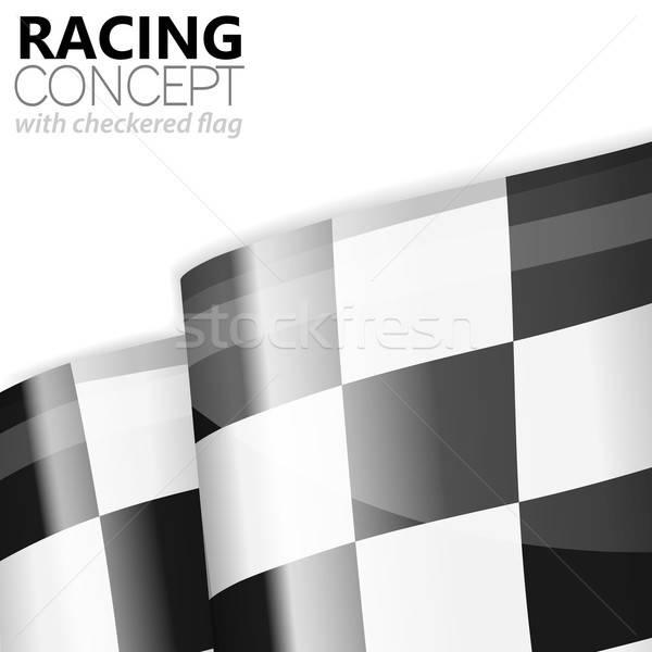 Carreras bandera terminar ganador vector Foto stock © -TAlex-