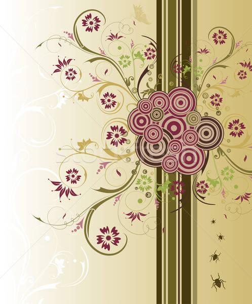 Abstrato floral caos bicho borboleta elemento Foto stock © -TAlex-