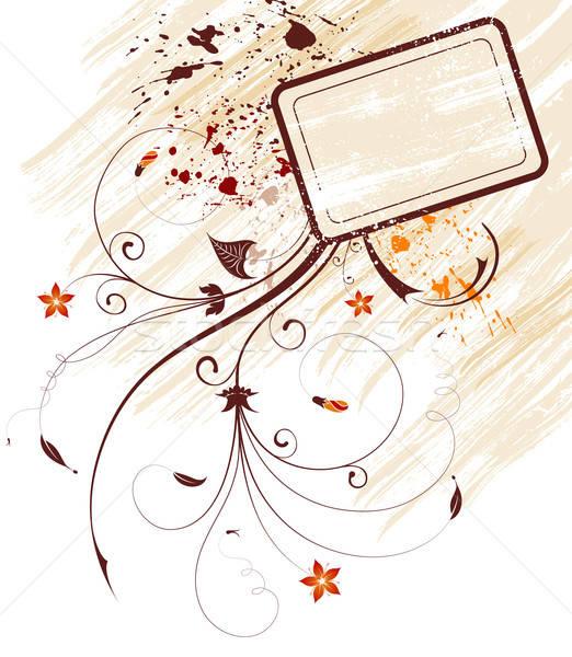 Grunge virág festék keret alkotóelem terv Stock fotó © -TAlex-