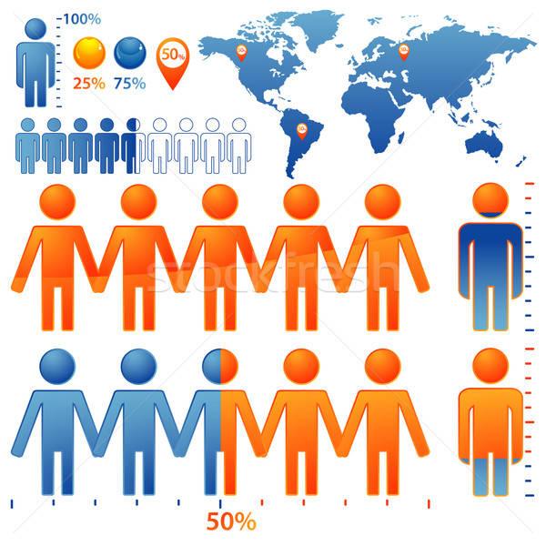 Halklar simgeler nüfus dizayn Stok fotoğraf © -TAlex-