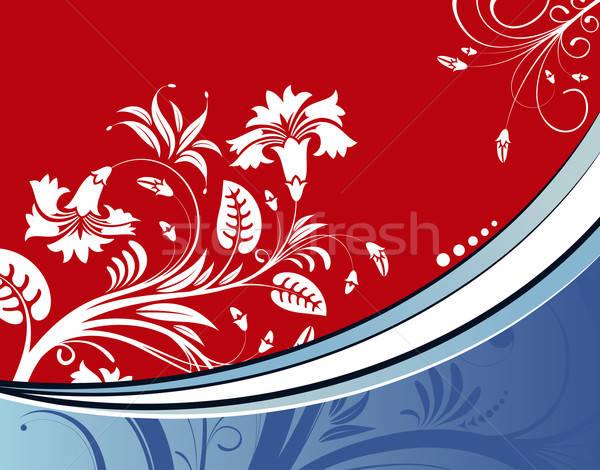 Virág hullám minta alkotóelem terv absztrakt háttér Stock fotó © -TAlex-