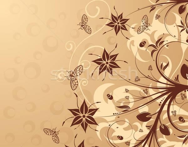 Virág pillangó alkotóelem terv absztrakt háttér Stock fotó © -TAlex-