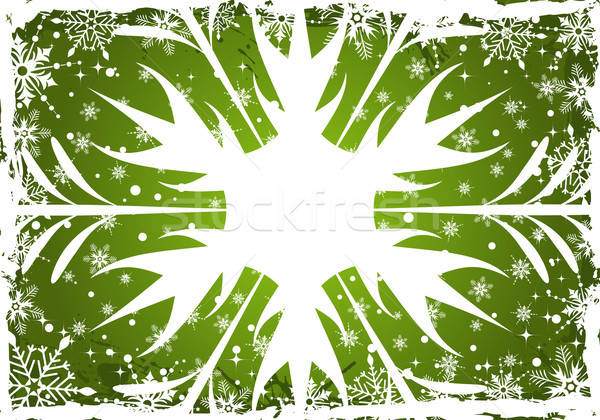 Karácsony keret grunge hópelyhek alkotóelem terv Stock fotó © -TAlex-