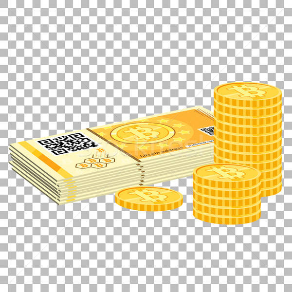 Crypto currency bitcoin banknotes and coins Stock photo © -TAlex-