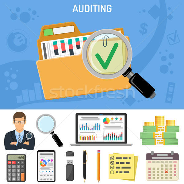 Auditing, Business Accounting Concept Stock photo © -TAlex-