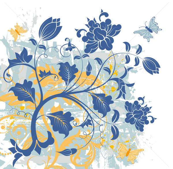抽象的な フローラル 混沌 グランジ 塗料 ストックフォト © -TAlex-