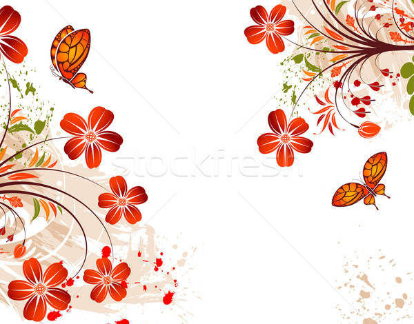 Grunge flower background Stock photo © -TAlex-