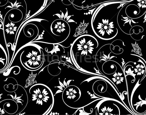Abstrakten Blumenmuster Schmetterling Element Design Blume Stock foto © -TAlex-