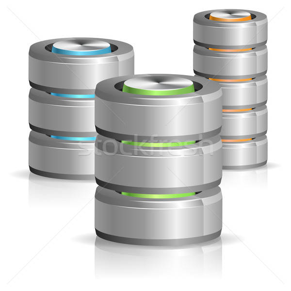 Database and Hard Disk Icon Stock photo © -TAlex-