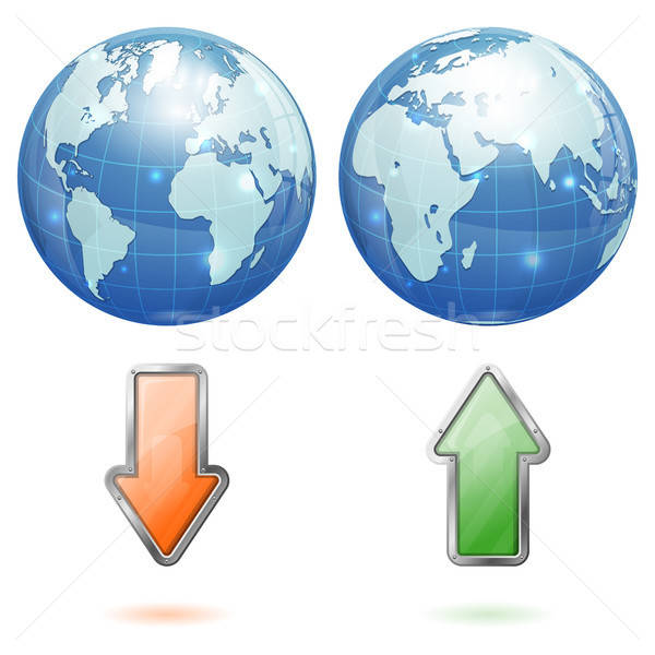 Global Upload and Download Concept Stock photo © -TAlex-