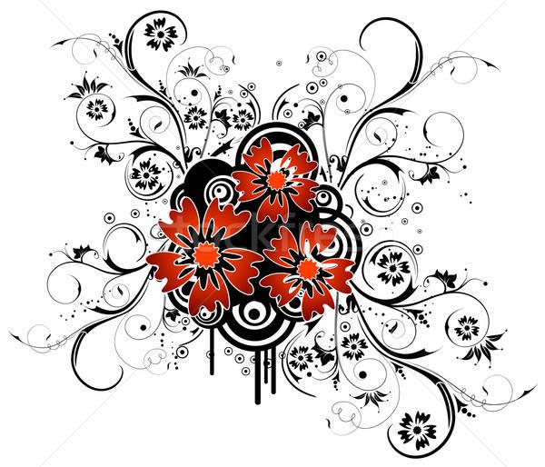 Abstrato floral caos círculo elemento projeto Foto stock © -TAlex-