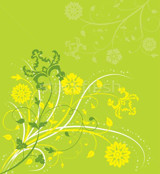 Flor elementos projeto vetor arte verão Foto stock © -TAlex-