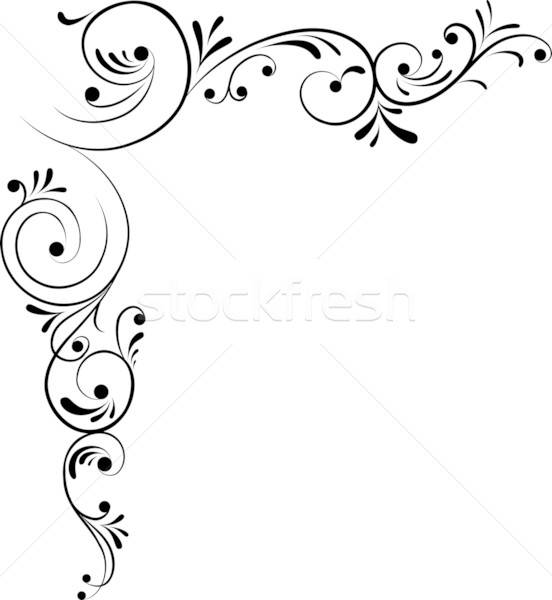 Element for design, corner flower, vector Stock photo © -TAlex-