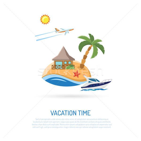 Vacanze turismo infografica icone mobile applicazioni Foto d'archivio © -TAlex-