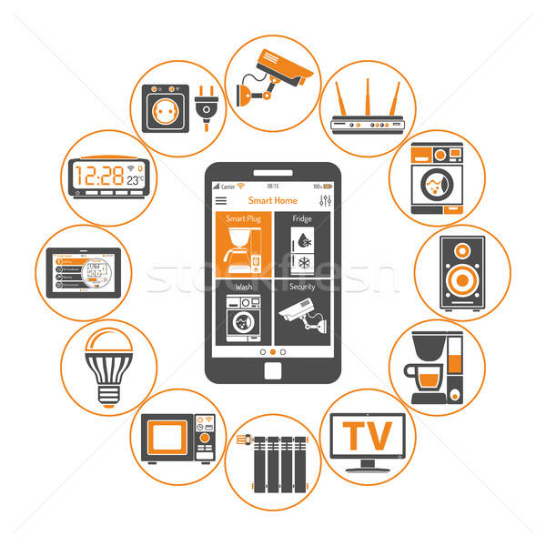 Smart House and internet of things Stock photo © -TAlex-