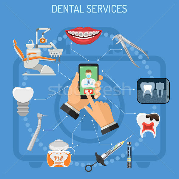 Online dentistry concept Stock photo © -TAlex-