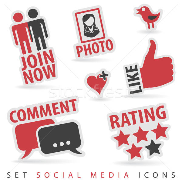 Set Social Media Icons Stock photo © -TAlex-