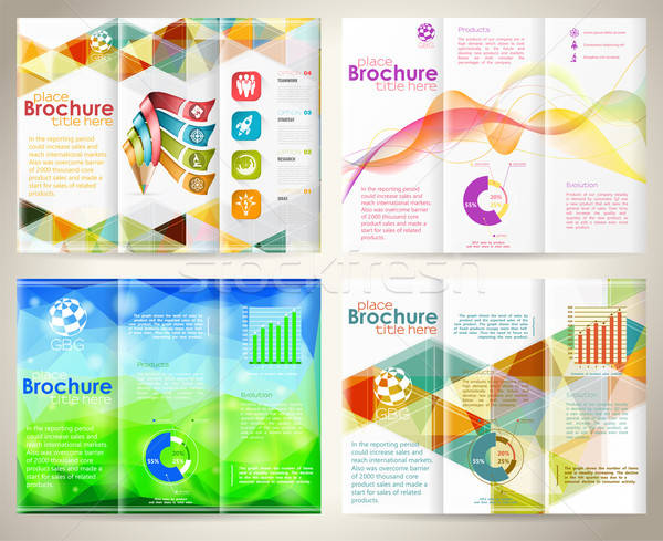 Collect Brochures Design Template Stock photo © -TAlex-