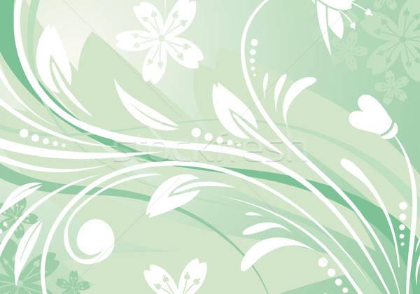 Virágmintás alkotóelem terv absztrakt háttér sziluett Stock fotó © -TAlex-