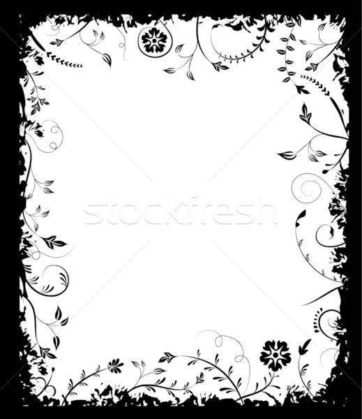 Grunge frame flower, elements for design, vector Stock photo © -TAlex-