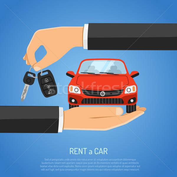 аренда автомобилей плакат реклама подобно Сток-фото © -TAlex-
