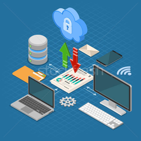 Cloud Computing Technology Isometric Stock photo © -TAlex-