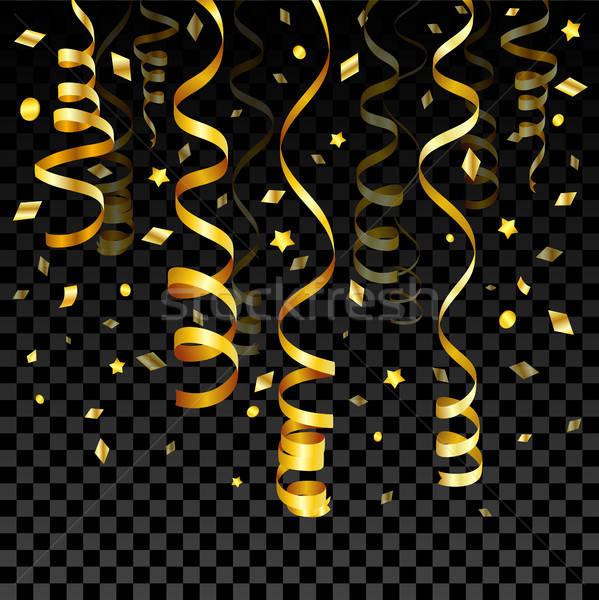 Gold Serpentine and Confetti Stock photo © -TAlex-