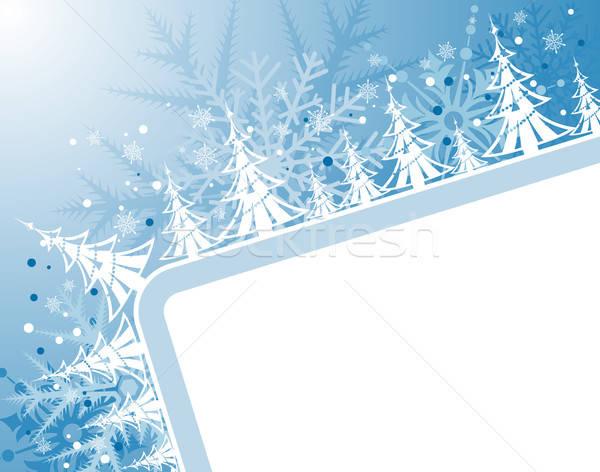 Karácsony absztrakt keret fa alkotóelem terv Stock fotó © -TAlex-