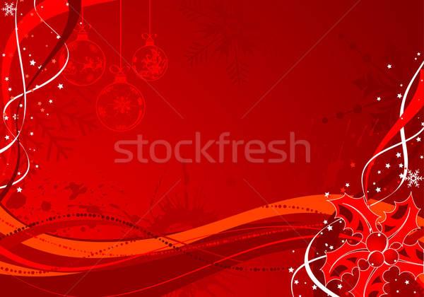 Natale vischio modello onda elemento design texture Foto d'archivio © -TAlex-