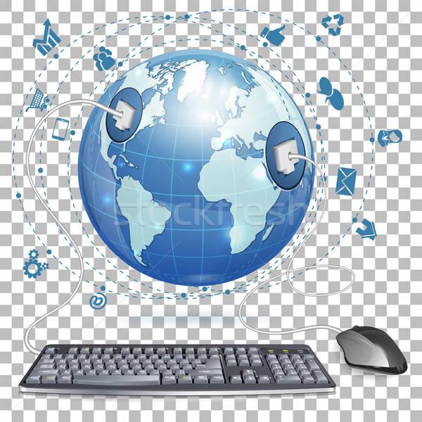 商業照片: 鼠標 · 鍵盤 · 地球 · 圖標