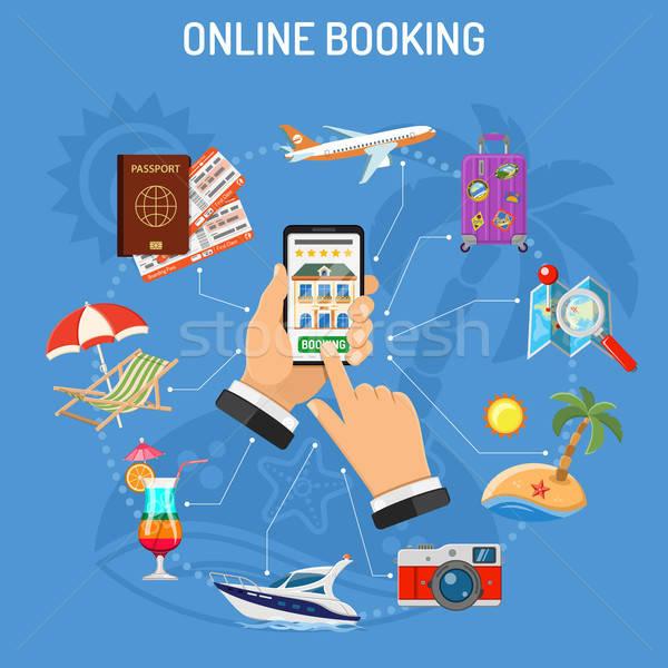 Online Booking Hotel Stock photo © -TAlex-
