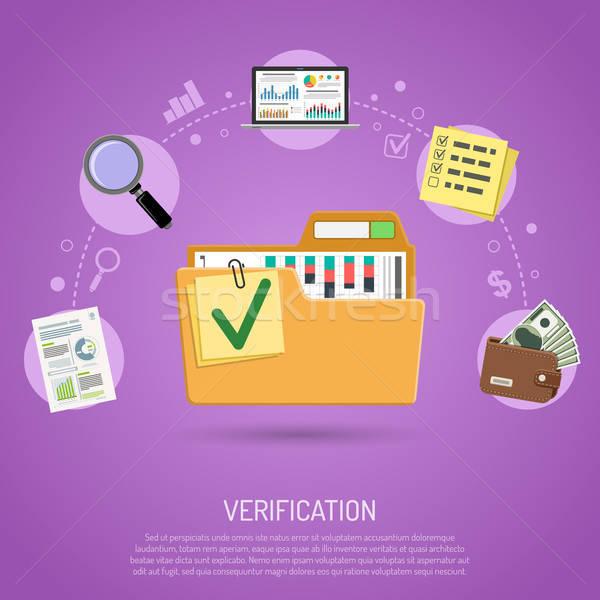 Business boekhouding infographics map omhoog financiële Stockfoto © -TAlex-